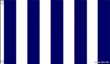 Navy Blue & White Striped